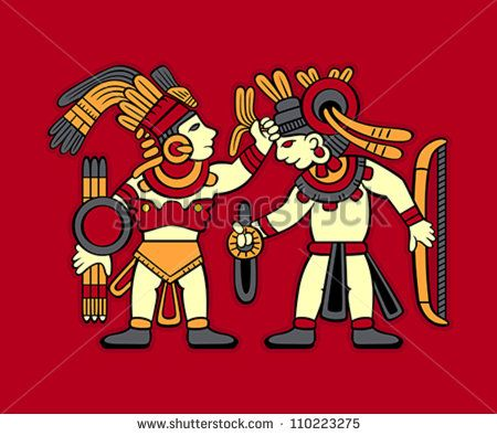 Aztec redskin warriors starting to fight