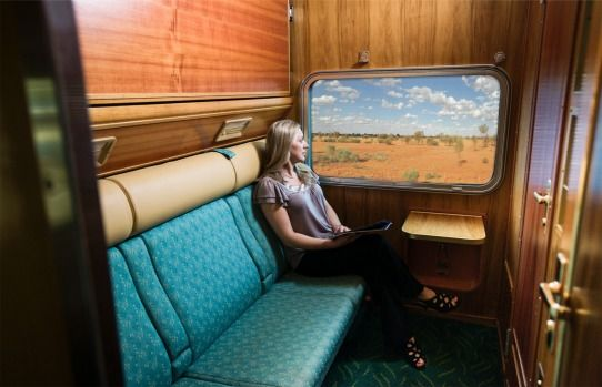 Gold service twin cabin: The Ghan. Photo: Liam West