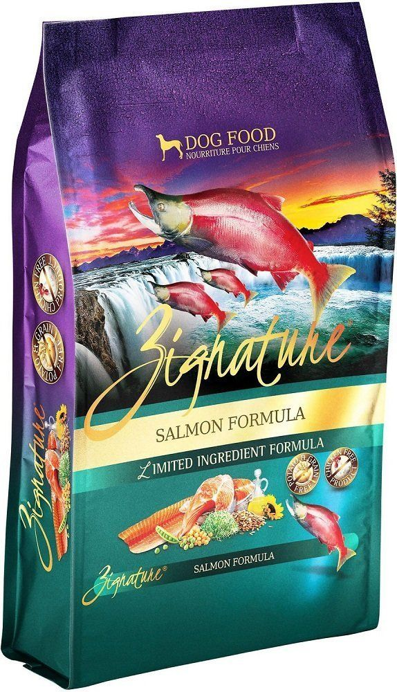 Zignature Salmon Formula Dry Dog Food 27 Pounds Made From Salmon