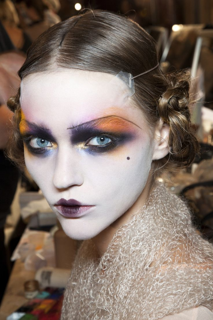 Doll face Intense makeup at John Galliano.