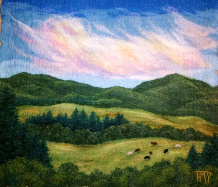 brilliant felted landscapes