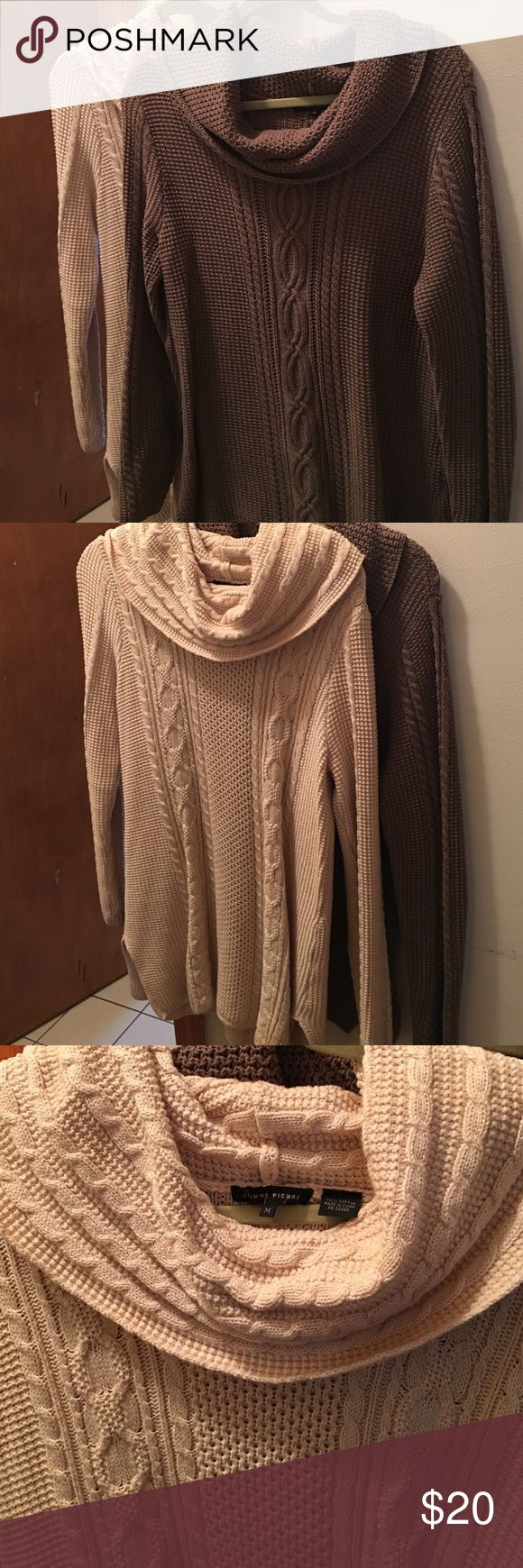 Two exact sweaters! Different colors! These sweaters are long over the butt, where with boots, very nice, both are medium but run a little big. I bought both at tj max. I'd like to sell both for 20 .. Sweaters Cowl & Turtlenecks