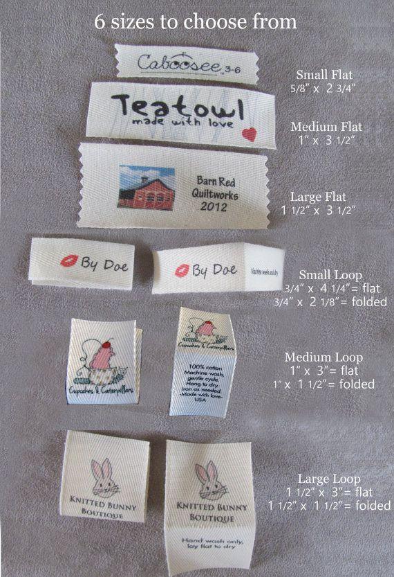 Custom clothing labels using your logo or por mountainstreetarts, $15.00