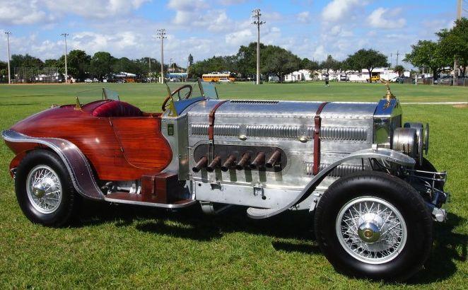 custom 27 liter Rolls Royce powered 1928 Rolls boat tail speedster
