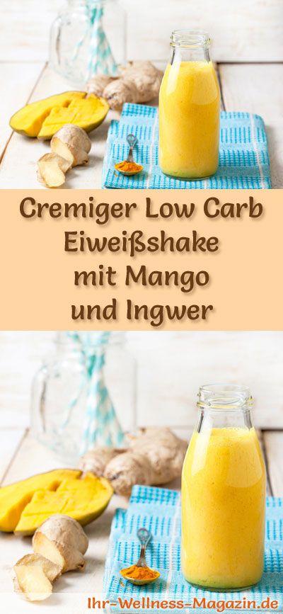 Machen Sie Mangoprotein-Shake mit Ingwer selbst – ein gesundes kohlenhydratarmes Diät-Rezept …   – Smoothies & Shake-Rezepte zum Abnehmen
