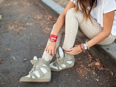 Sneaker Wedges (so adorbs) @livibivens i'm obsessed. So sporty and girly.