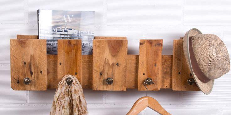 Percheros originales: una nueva idea para aprovechar los palets