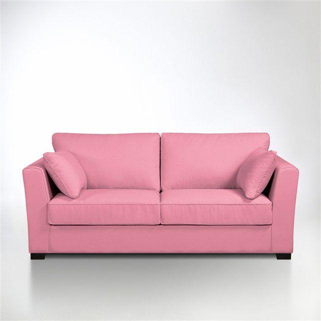 Canape rose 3 places sissius copyright la redoute pink sofas canap s rose - La redoute canape convertible 3 places ...