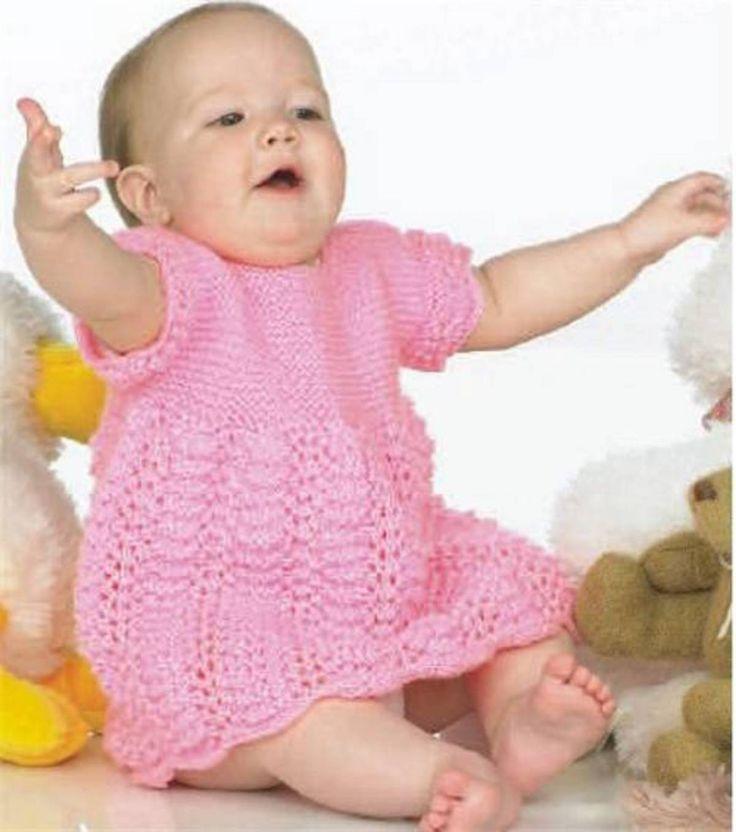Knit Baby Dress - free - Ravelry : http://www.ravelry.com/patterns/library/knit-baby-dress