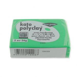 Pâte polymère Kato Polyclay  56 gr Vert (n°208) : L'argile polym
