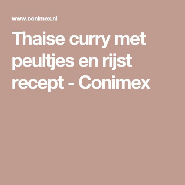 Thaise curry met peultjes en rijst recept - Conimex