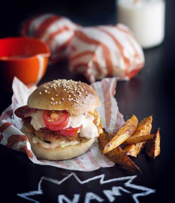 Mini chicken burgers / Pienet kanahampurilaiset, resepti – Ruoka.fi
