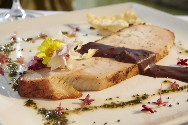 Turkey Breast - served with mole poblano, torrejas and cilantro coulis