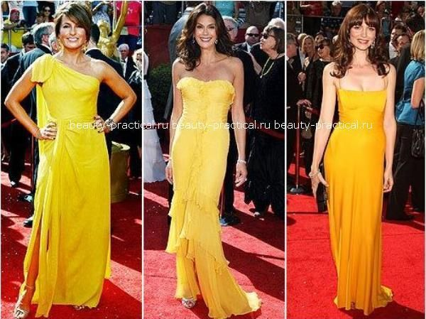 Макияж под бледно желтое платье