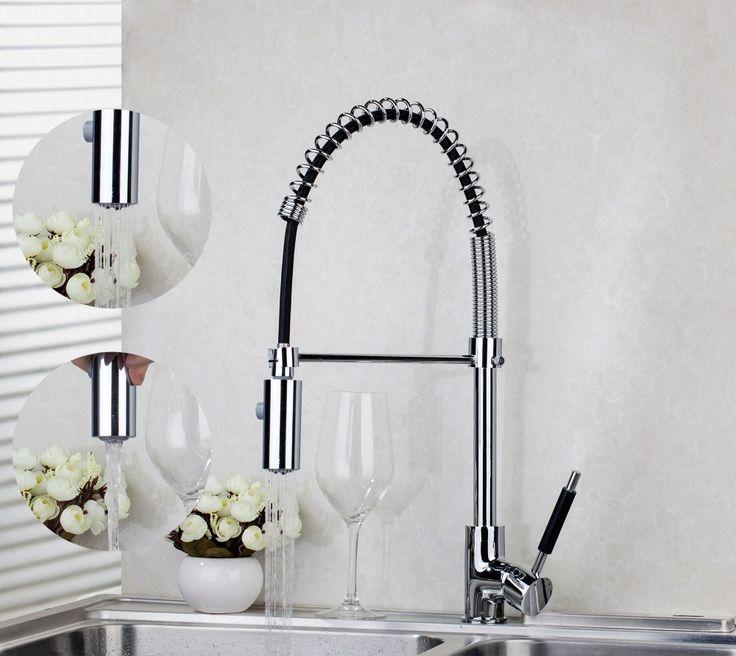 YANKSMART Chrome Brass Swivel Pull Down Kitchen Faucet 8538/8 Vessel Sink Mixer Tap torneira da cozinha Kitchen Faucet