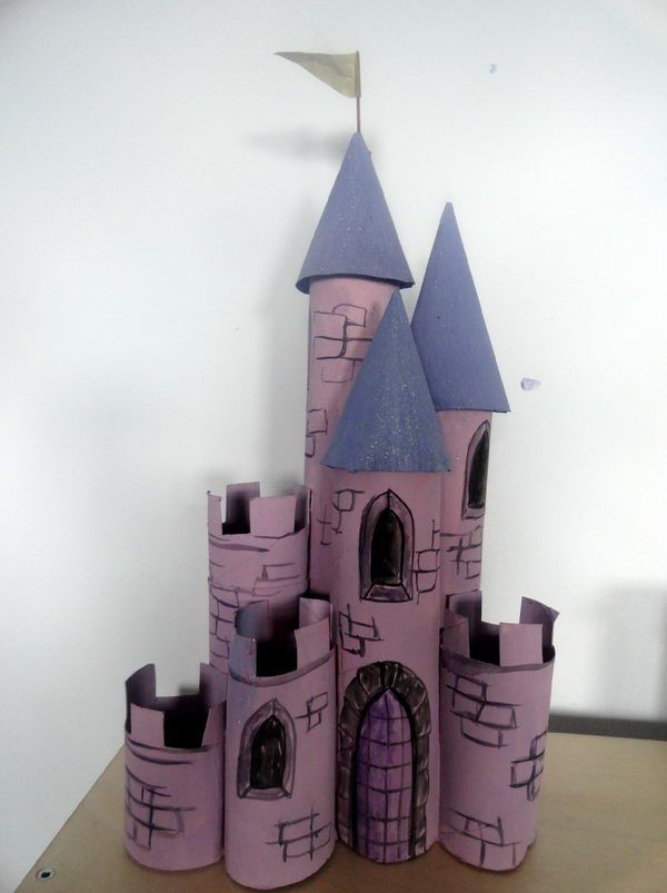 Homemade Castle - Homemade Building Themed Toilet Paper Roll Crafts, http://hative.com/homemade-building-themed-toilet-paper-roll-crafts/,