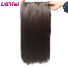 "USMEI 5 clips/piece Natural straight Hair Extention 24""inches 120g Clip in women pieces Long Fake synthetic Hair //Price: $US $5.15 & FREE Shipping //     #clothing"