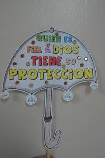Varias manualidades sobre la protección de Dios.