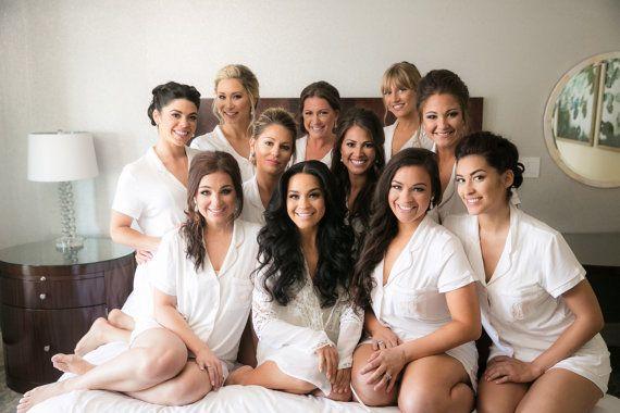Bridesmaid gift Bridesmaid pjs , Bridesmaid PJ sets, Bridesmaid Pajama set…
