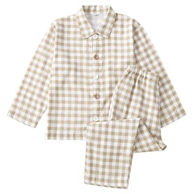 綿二重ガーゼお着替えパジャマ・長袖・トドラー(オーガニックコットン)