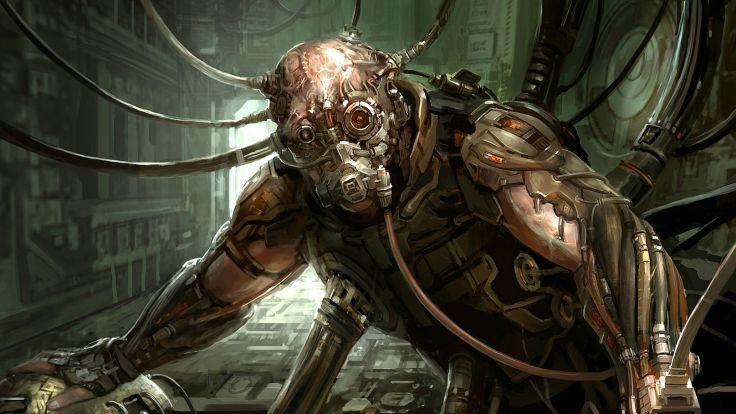wallpaper cyberpunk metropolis robots - photo #24