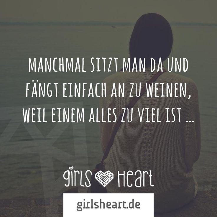 Mehr Sprüche auf: www.girlsheart.de #weinen #tränen #last #verzweiflung #trauer