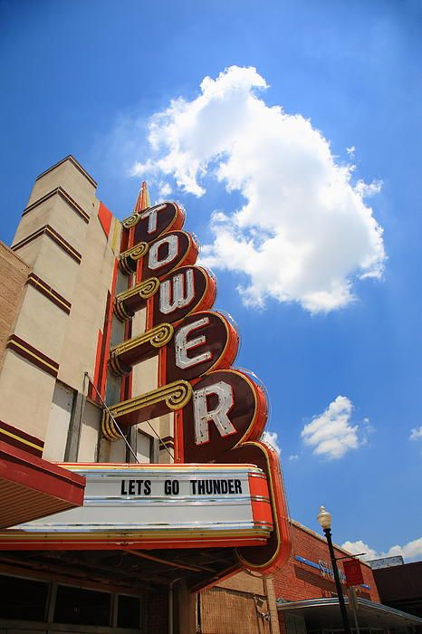 """Route 66 - Tower Theater in Oklahoma City, a Rt. 66 attraction. """"The Fine Art Photography of Frank Romeo."""""""