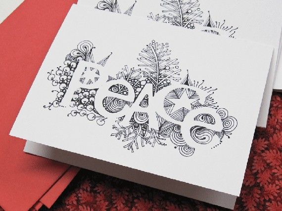 Peace... I need to try this for our Christmas cards this year!: Christmas Cards, Peace Cards, Peace Doodles, Cards Ideas, Christmas Zentangle, Greeting Card, Xmas Cards, Tangled Cards, Christmas Tangled