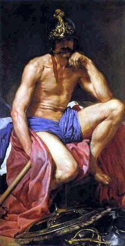 Velazquez, Diego (1599-1660) - 1639-41c. Mars (Museo del Prado, Madrid, Spain)