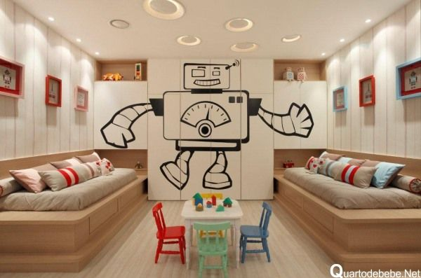 quarto infantil tema robô