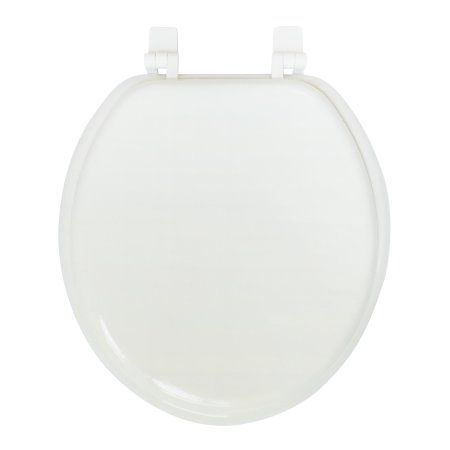 Mainstays 17 inch Molded Wooden Toilet Seat, Gray