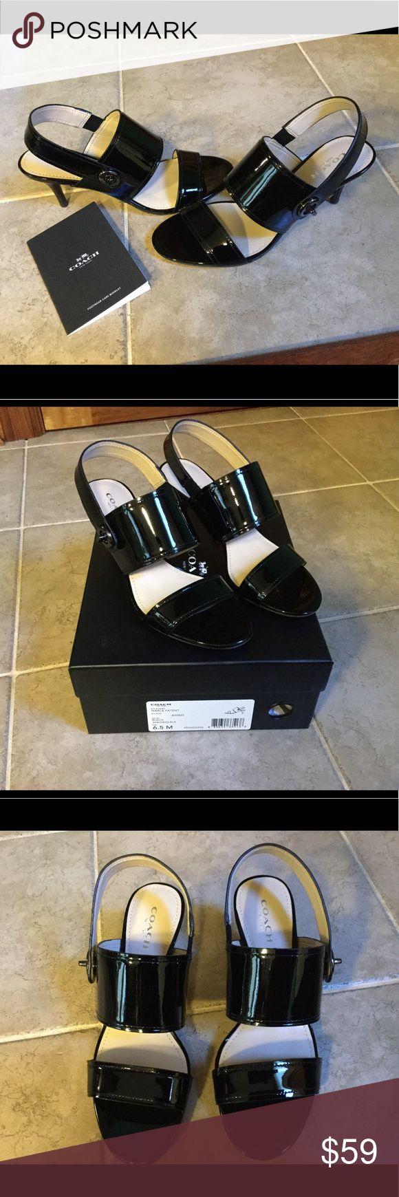 Coach Marla Black Patent Sandal Like new Coach black patent Marla sandal.  Worn one time. Coach Shoes
