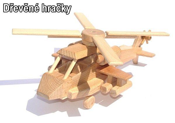 Dřevěné hračka dětská helikoptéra na hraní