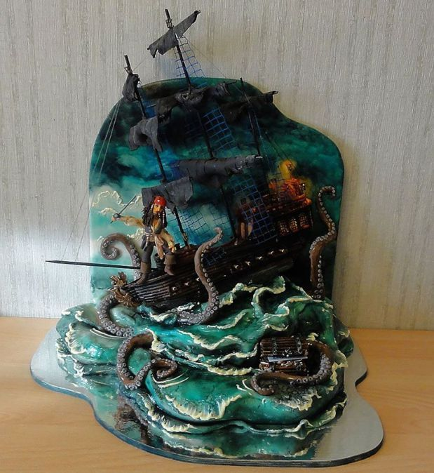 Pirates of the Caribbean Captain Jack Sparrow cake