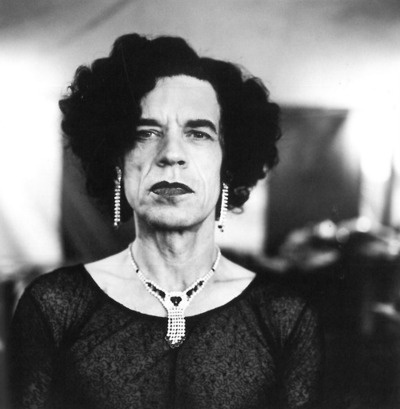 WHOA! Mick Jagger in drag