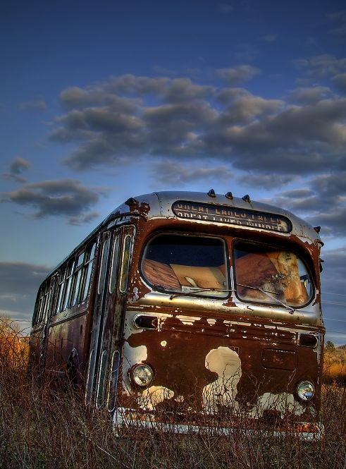 abandoned busBuses, Vintage Cars, Boys Things, Bus T, Abandoned Bus, Art, Amazing Shots, Abandoned Places, Abandoned Vehicle