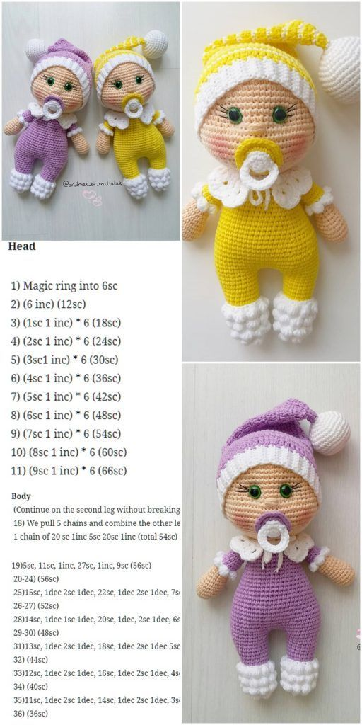 Amigurumi Doll Pacifier Baby Free Crochet Pattern – Crochet.msa.plus – Amigurumi Patterns And Tutorials – Gratis patroon