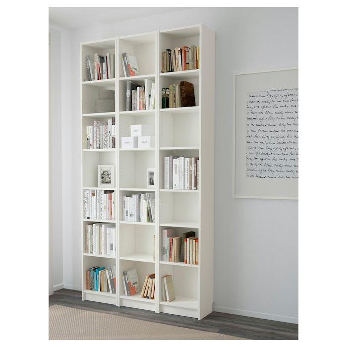 Billy Bibliotheque Blanc 120x28x237 Cm Ikea In 2020 White Bookcase Ikea Billy Bookcase White Billy Bookcase