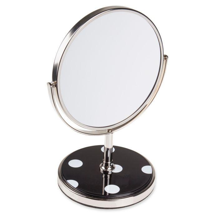 Kate Spade New York Deco Dot Vanity Mirror In Black Kate Spade