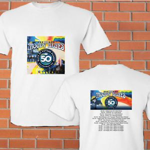 The Moody Blues Days of Future Passed tour concert 2018 white tees; Tshirt 100% Cotton; Available Men's size S-3XL;