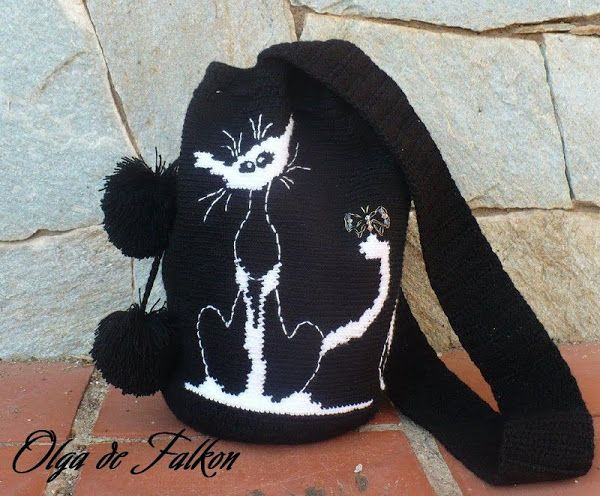 Wayuu Mochila bag cat