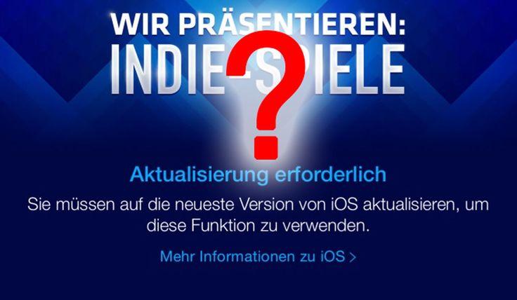 """Fehler oder Leak auf iOS 8.4: """"Aktualisierung erforderlich"""" im App Store? - https://apfeleimer.de/2015/05/fehler-oder-leak-auf-ios-8-4-aktualisierung-erforderlich-im-app-store - Hat Apple iOS 8.4 aus Versehen bereits im App Store angekündigt? Unser Leser Lennard macht uns auf ein interessantes Fundstück in iOS App Store für iPhone und iPad aufmerksam: in der Kategorie """"Wir präsentieren: Indie-Spiele"""", das zur Zeit prominent auf der App Store Startseite bew..."""
