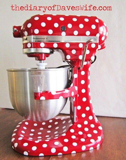 polka dot kitchen aid