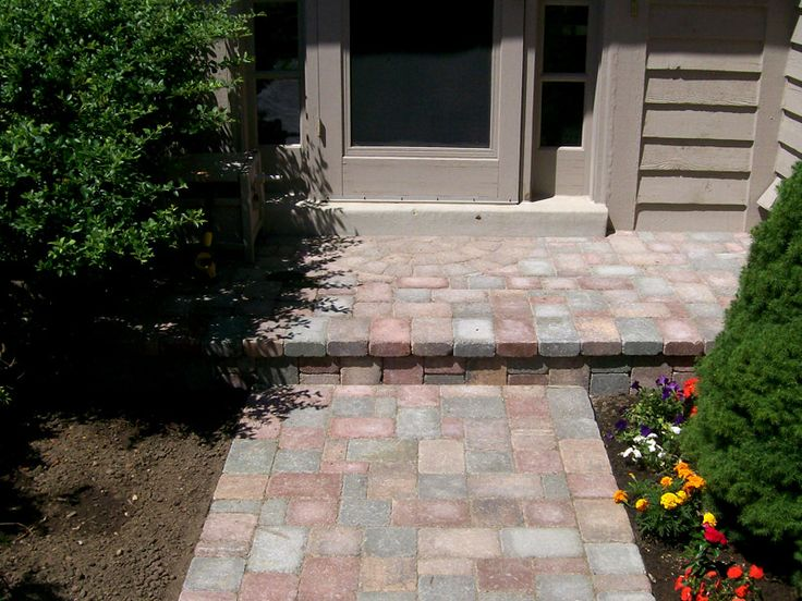 Pavers Over Concrete Step