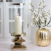 Ljuslykta med glas Lyx 38 cm - guld , www.hemmetshjarta.se
