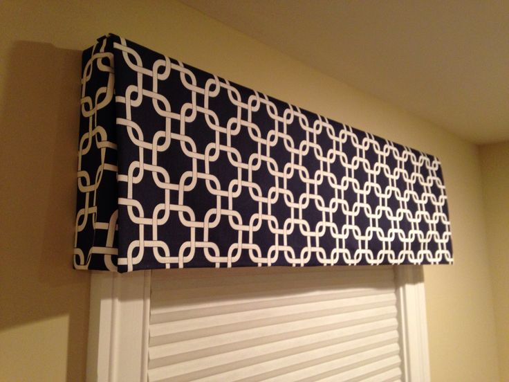 Diy Box Valance No Sew Around The House Pinterest