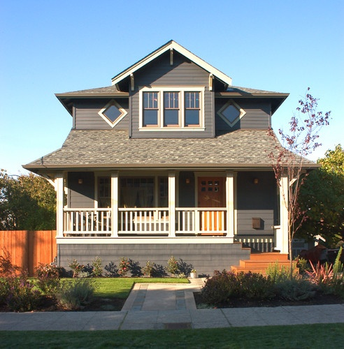 Really cute bungalow bungalow palette traditional - Craftsman home exterior paint colors ...