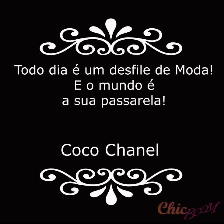 #frasedemoda #frase #moda #chanel #desfile #passarela