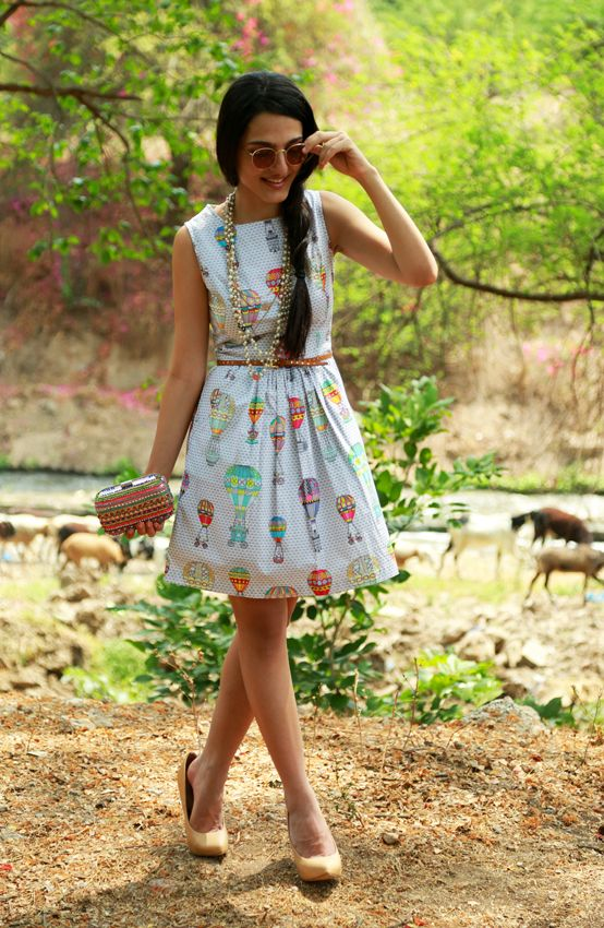 Sky Balloons BabyDoll dress now live on www.thequirkbox.com