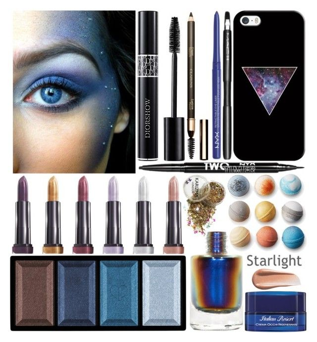 """""""Galaxy Inspired"""" by grozdana-v ❤ liked on Polyvore featuring beauty, Casetify, Clé de Peau Beauté, Charlotte Russe, MAC Cosmetics, Christian Dior, NYX, Acqua di Parma, Berylune and Kevyn Aucoin"""